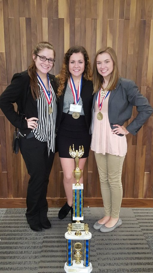 Rachael, Lexi & Anna showing off our hardware
